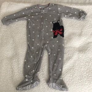 Carters footed pajamas size 12 months NWOT